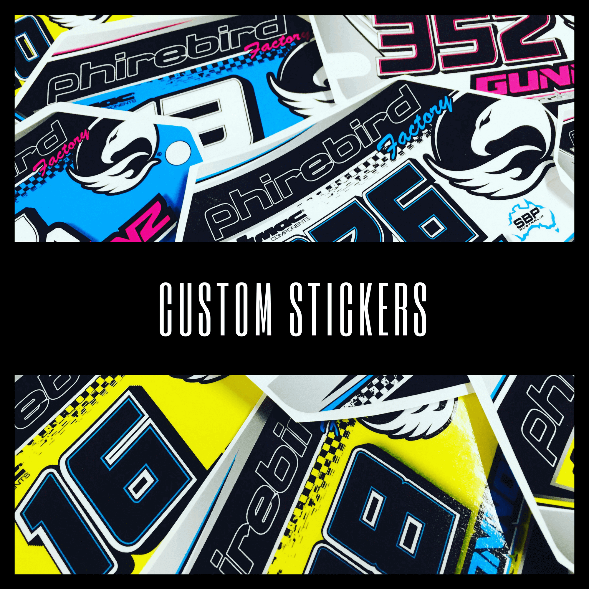 CUSTOM BMX STICKERS PHIREBIRD - Custom bmx stickers